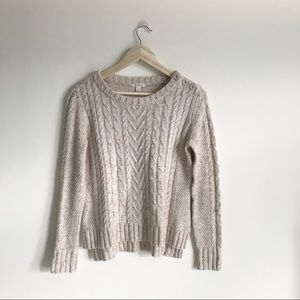 Caslon Hi-Low Long Sleeve Sweater Medium